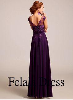 Purple prom dress lace prom dress 2014/ formal by FelalaDress