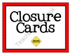 Lesson Closure Cards in Red from KlaRenays Shop on TeachersNotebook.com (28 pages)