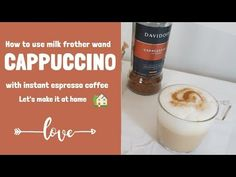 how to make a Cappuccino with instant espresso - Davidoff espresso 57 / How to use Milk Frother Wand Espresso Maker, Espresso Coffee, Espresso Machine, Espresso Recipes, Coffee Recipes, Cafe Barista, Mini Cafe, Mini Milk, Caffeine Addiction