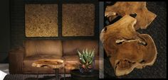 couch and tables Weylandts, Live Edge Wood, Living Furniture, Where The Heart Is, Mood Boards, Contemporary Design, South Africa, Lion Sculpture, Sweet Home