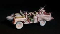 """1/35 scale Italeri Kit, Land Rover """"Pink Panther"""" of the SAS"""