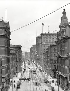 Detroit circa 1906. Griswold Street.