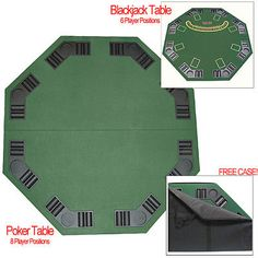 Card Tables And Tabletops 166572: Deluxe Poker And Blackjack Table Top W  Case  U003e