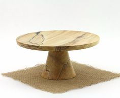 8 1/8 Spalted Maple Cake Stand Pedestal Cake by WoodExpressions