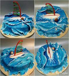 Windsurfing cake