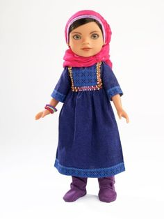 Amazon.com: Hearts for Hearts Girls Shola from Afghanistan Doll: Toys & Games  - Her dress also looks like what girls wore in Bible times. So a Christian or Jewish girl could imagine Shola as their favorite female Bible character.