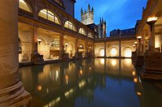 Bath at night England