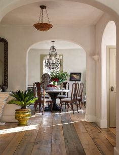 Gorgeous and open dining area.