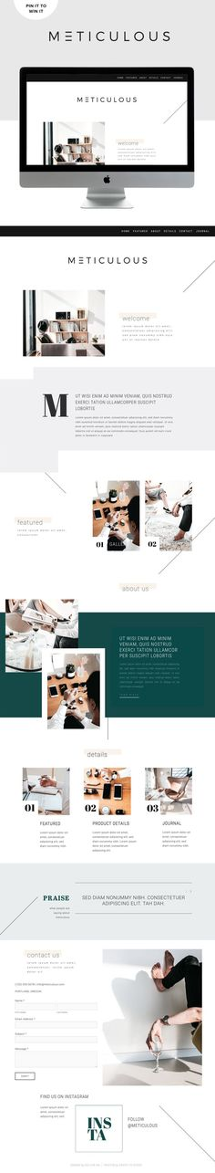 Win It! Meticulous Is Live For Squarespace — GO LIVE What a gorgeous template, I am in love!