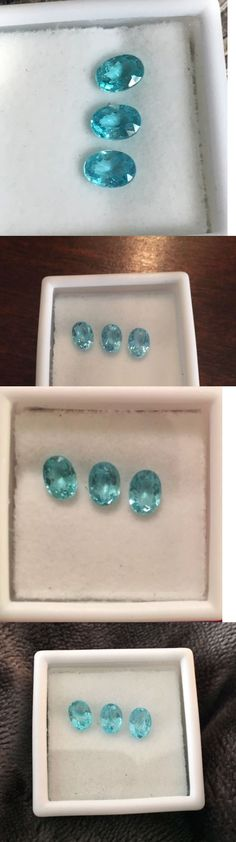 Apatite 110787: Apatite 7X5mm Oval Cut (Avg 0.9-1.0 Ct Each) Set Of Three- Paraiba Color! -> BUY IT NOW ONLY: $30 on eBay!