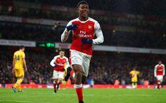 Download wallpapers Alex Iwobi, footballers, Arsenal, The Gunners, Premier League, soccer