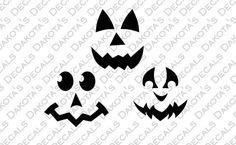Pumpkin Faces SVG for Download by DakotasDecals on Etsy