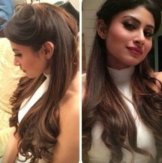 63 Ideas For Hair Long Ideas Hot Haircuts Indian Hairstyles, Formal Hairstyles, Bun Hairstyles, Wedding Hairstyles, Hairstyles With Lehenga, Hairdos, Hot Haircuts, Good Hair Day, Long Hair Cuts