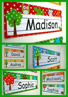 Owl Nameplates (editable) ADORABLE owl nameplates!  Just type and add your student's name!