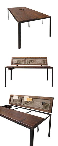If you're looking for a truly unique dining table or desk, this stunning design will surely fit the bill. This Repurposed Doorway Dining Table… Furniture Sale, Dining Furniture, Furniture Collection, Dining Rooms, Unique Dining Tables, Kitchen Tables, Interior Barn Door Hardware, Repurposed Desk, Welcome To My House