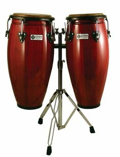 "CODA DP-410-11-BUR Conga Drum, Burgundy by CODA. $280.48. From live performances to community drum circles, CODA congas are professional level drums for every type of player. The set comes with 10"" and 11"" conga drums featuring Contour Rhythm rims for longer playability and natural hide heads for an authentic, resonant tone. The set also features L-brackets for stand mounting and a strong birch body. This is a great set to play and perform authentic Latin grooves."