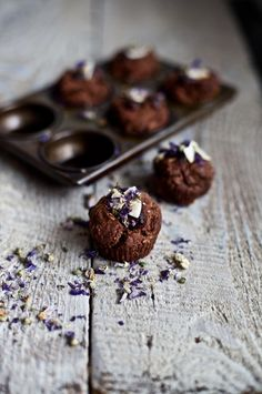 ... chocolate and coconut mini muffins ...