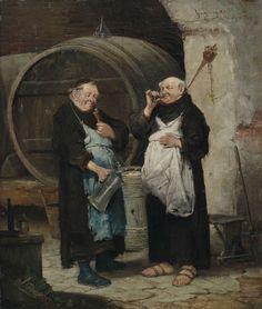 Adolf Humborg - Zwei Mönche im Weinkeller