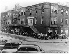 Ohio University Howard Hall men waiting in line, ca1948 | Flickr - Photo Sharing! :: Ohio University Archives