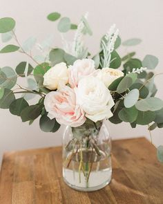 Who else loves having fresh flowers in their home? Garden Roses and Silver Dolla. Who else loves having fresh flowers in their home? Garden Roses and Silver Dollar Eucalyptus is one of our favorite comb. Bridal Shower Flowers, Bridal Shower Centerpieces, Diy Centerpieces, Silk Flower Centerpieces, Bridal Showers, Fresh Flowers, Beautiful Flowers, Exotic Flowers, Purple Flowers