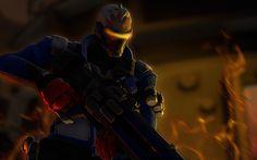 Download wallpapers Soldier 76, art, 4k, characters, Overwatch