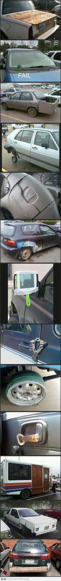 Car reparirs fail