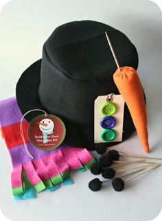 WhiMSy love: DIY: Build Your Own Snowman Kit
