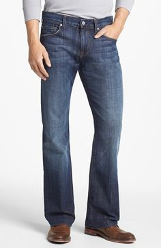 7 For All Mankind® 'Brett - A Pocket' Modern Bootcut Jeans (New York Dark) available at #Nordstrom