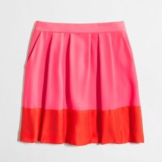 Factory pleated colorblock skirt Skirts ($70) ❤ liked on Polyvore