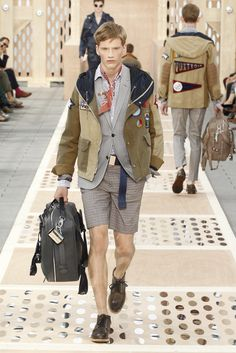 Look 27 from the Louis Vuitton Men's Spring/Summer 2014 Fashion Show. ©Louis Vuitton / Ludwig Bonnet