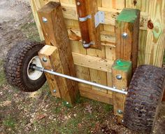 Lawn And Garden Wagon Lawn Tractor Trailer, Lawn Mower Trailer, Homemade Trailer, Trailer Diy, Garden In The Woods, Lawn And Garden, Garden Tool Storage, Garden Tools, Garden Tractor Attachments