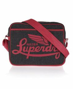 DARK GREY HERRINGBONE Superdry Winter Icarus Alumni Bag