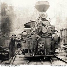 train west virginia | Cherry River Boom and Lumber Company Train and Crews