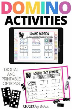These independent dominoes activities help students practice addition and subtraction, odd and even numbers, ordering numbers, and more! There's even a digital option. These activities work well for math rotations, fast finishers, and centers. Subtraction Games, Addition And Subtraction, Place Value Activities, Math Activities, Teaching Tips, Teaching Math, Doubles Facts, Math Rotations, Math Tools