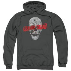 Suicide Squad - Skull Adult Pull-Over Hoodie