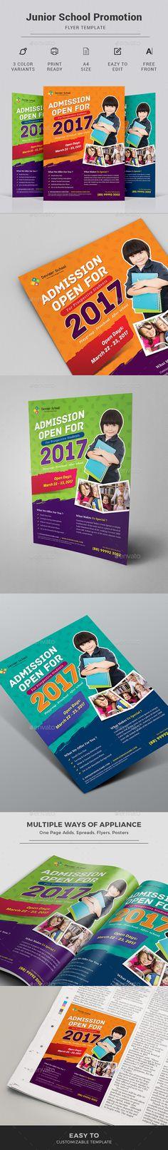 #SchoolFlyerTemplate for school promotion, junior school promotion and kids school promotion. Download http://graphicriver.net/item/school-flyer/16794194?ref=themedevisers