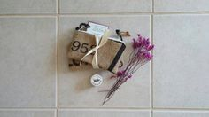 Set of 2 Small Coffee Burlap zipper pouches giftset by LinaandVi