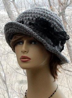 Check out this item in my Etsy shop https://www.etsy.com/listing/568397402/womens-crochet-hat-flapper-brim-hat