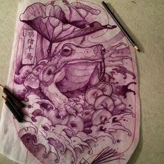 Tomorrows fun. Thigh piece. #rtcinc #moneyfrog