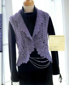 cute - free pattern, bolero jacket (sleeveless)
