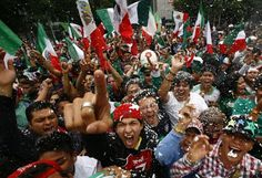 Fans of Mexico's soccer team celebrate after their team beat Brazil in the men's soccer final at the London 2012 Summer Olympics. Trivia, Latino News, Where Did It Go, Mexico Soccer, 2012 Summer Olympics, Olympic Gold Medals, Football Is Life, Popular Sports, Cinco De Mayo
