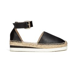 6f4fac0598f See by Chloe Women s Leather Espadrille Flat Sandals - Black ( 145) ❤ liked  on Polyvore featuring shoes