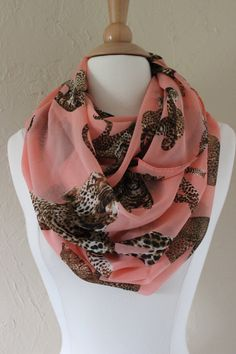 Animal Print Infinity Scarf MultiCat Pattern by AurielleCo on Etsy, $18.50