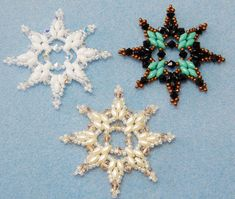 Snowflake 5 Beaded Ornament Pattern by Westtexasjewels on Etsy