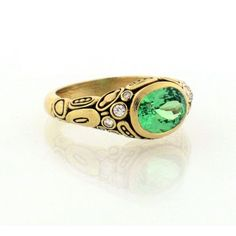 Alex Sepkus Green Garnet Ring R-54M