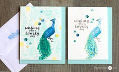 Second Generation Stamp Layering + Giveaway - Jennifer McGuire Ink | wishing you a lovely day