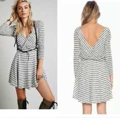 Free People striped dress NWOT Never worn without a tag beautiful striped dress by Free People So very soft and stretchy; its Medium; looks like best fits sizes 6-8 Free People Dresses