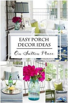 Easy Porch Decor Ideas | from On Sutton Place