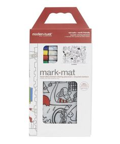 Designed for kids of all ages, this Mark-mat from Modern-twist allows your young Picasso to colour anything from the Golden Gate bridge to fearless space animals.