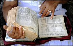 MARY LEE'S BIBLE...Most of the people in Gee's Bend have lived there all their lives. They are proud landowners, born to the Sharecroppers, born to the Slaves, who originally inhabited the plantations of Gee's Bend.